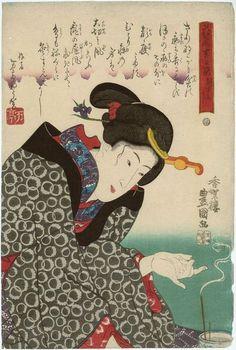 Hanagoyomi kichihi sugata / Kunisada 1843~1847