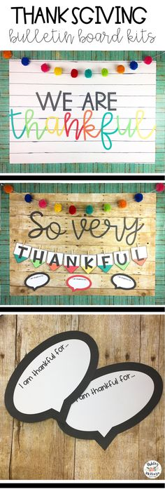 I am thankful for writing prompt incl& & November Teaching Ideas Bunte Thanksgiving Bulletin Board Kits! Thanksgiving Bulletin Boards, November Bulletin Boards, Halloween Bulletin Boards, Thanksgiving Messages, Thanksgiving Preschool, Classroom Bulletin Boards, Thanksgiving Classroom Door, Classroom Ideas, Colorful Bulletin Boards