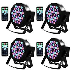 Missyee Up Lighting 36 Leds RGB Stage Lights Sound Activated DMX 512 Controller Dj Par Can Lights with remote control for Birthday Party Wedding Bar Club Home Christmas Halloween Festival 4 packs ** Learn more by visiting the image link. Dance Floor Lighting, Stage Lighting, Mixing Dj, Color Mixing, Halloween Camera, Disco Lights, Halloween Festival, Can Lights, Wedding Events
