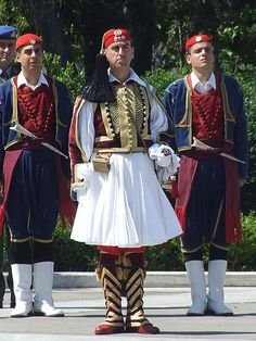 Fustanella as worn by an officer of the Greek Presidential Guard, Athens.