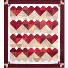 Heart quilt- would have to be for a special occasion or person (non red colors)