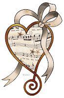 ArtbyJean - Vintage Sheet Music: ---HEARTS