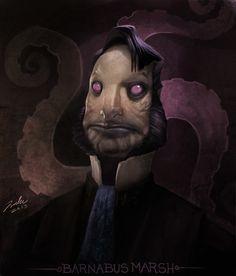 ArtStation - The Innsmouth Look, Luke Harrington Cthulhu Art, Call Of Cthulhu, Scary Mermaid, Creepy Art, Creepy Stuff, Lovecraftian Horror, Eldritch Horror, Futuristic Art, Art Station