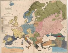 """""""Ethnographical Map of Europe in the Earliest Times"""" from 1861 [2751x2145]"""