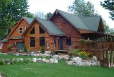 A rustic farmhouse style log cabin tour for National Log Cabin Day!