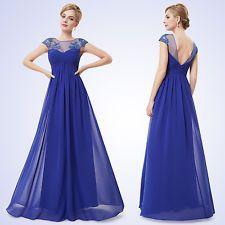 Vestido de noche azul rey mercadolibre