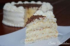 SÜTIK BIRODALMA: Bounty torta Cookie Recipes, Dessert Recipes, Hungarian Recipes, Vanilla Cake, Nutella, Fudge, Food And Drink, Coconut, Sweets