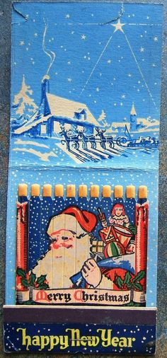 Merry Christmas Happy New Year Matchbook Santa Advertising Promotional 1949  pic.twitter.com/D6kuFDvwTW http://www.ebay.com/itm/Merry-Christmas-Happy-New-Year-Matchbook-Santa-Advertising-Promotional-1949-/161551471706?roken=cUgayN&soutkn=Bn8ezn via @eBay