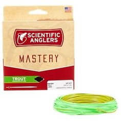 Scientific Anglers Mastery Trout Fly Line - Optic Green/Green - 90' - Line Weight 4