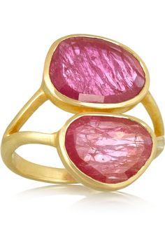 Pippa Small 18-karat gold ruby ring NET-A-PORTER.COM