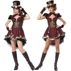 New Arrival Adult Womens Sexy Halloween Party Circus Clown Costumes Outfit Fancy Steampunk Girl Cosplay