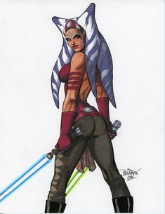 Ahsoka Five Scott Dalrymple - Star Wars Star Wars Fan Art, Star Wars Mädchen, Star Wars Canon, Star Wars Girls, Star Wars Rebels, Star Wars Characters Pictures, Star Wars Pictures, Star Wars Images, Ahsoka Tano