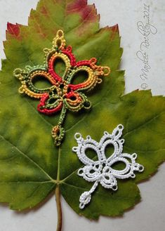 PDF Tatting Pattern Small Maple Leaf Instant by yarnplayer on Etsy