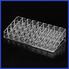 Behogar Clear Acrylic Makeup Organizer Cosmetic Storage Box for Lip Gloss Lipstick Nail Polish Make Up Holder 36 Compartment