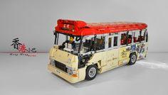 Hong Kong Minibus by shineyu Lego Bus, Mini Bus, All Lego, Lego Technic, Lego Creations, Lego City, Buses, Hong Kong, Asia