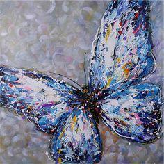 Handgemaltes ölgemälde tier kunst malerei paletten-messer-leinwand schmetterling malerei schöne wand-dekor kunst(China (Mainland))