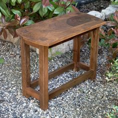 Wood Wooden Bench End Table Tables Chairs Coffee Patio Living Room Furniture