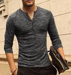 Men's Casual Long Sleeved T-Shirt – Zorket