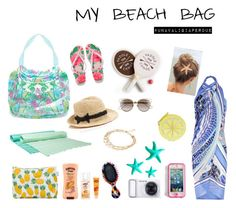"""My beach bag!!"" by unavaligiaperdue essentials items in my beach bag! summer themes"