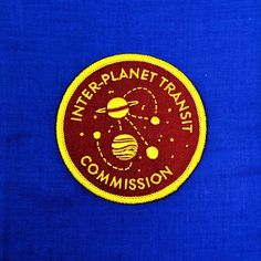 Inter-Planet Transit Commission Iron-On Patch Space Travel, Iron On Patches, Planets