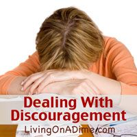 Are you discouraged? Try these 8 tips for dealing with discouragement when life's struggles have you down, whether you're struggling financially or in other ways.  Click here now http://www.livingonadime.com/dealing-with-discouragement/