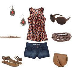 summer, created by mariasmyrna on Polyvore