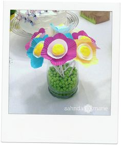 Marshmallow flowers. #party #food #flowers