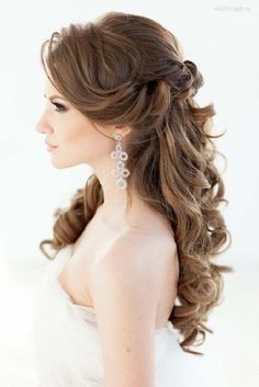 Beautiful half up half down bridal hairstyle #weddinghair #bridal #bridalhair #weddinghairstyles