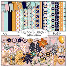 Buy 2 Get 1 Free  Joy Digital Scrapbook Kit by DigiScrapDelights, $4.00