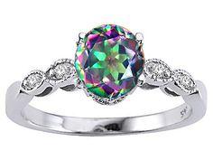 Mystic Topaz #Engagement #Ring