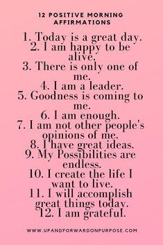 Morning affirmations. #positiveaffirmations #selflove #motivation #inspiration