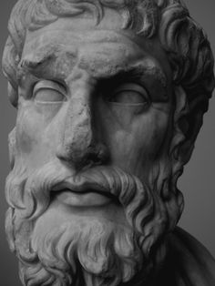 """journeymancreativejournal: """" Marble head of Epikouros Born on the island of Samos in 341 B., Epikouros spent most of his life in Athens, where he founded the Kepos (Garden), one of the most. Samos, Ancient Greece, Athens, The Past, Sculptures, Statue, Age, History, Portrait"""