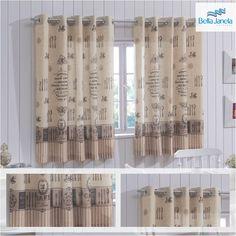 Rústica e estampada, as cortinas de cozinha vão dar uma nova cara para o ambiente mais gostoso da casa!