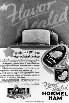 1926 - The first canned ham is introduced by the company - Hormel Flavor-Sealed Ham. #hormelhistory