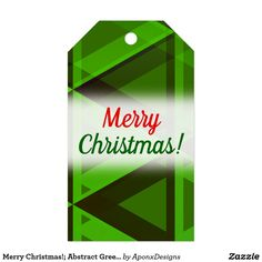 Abstract Green Triangles Pattern Gift Tags - merry christmas diy xmas present gift idea family holidays Holiday Gift Tags, Christmas Holidays, Family Gifts, Kids Gifts, Triangles, Merry Christmas, Christmas Gifts, Triangle Pattern, Xmas Presents