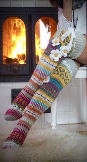 Ankortit Comfy Socks, Leg Warmers, My Mom, Fingerless Gloves, Crochet, Knitting, Flower, Fashion, Loom Knit