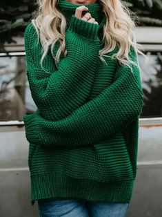 Turtleneck Sweaters Autumn Winter Casual Twist Warm Sweaters Female
