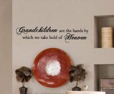 Vinyl Wall Sticker Decal Art Inspirational Decor Home Quote Grandkid Grandma K70. $22.97, via Etsy.
