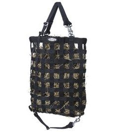 Treat bag, my pig would go nuts for this filled with hay, rice puffs and cheerio's! Hay Feeder, Pot Belly Pigs, Treat Bags, Shoulder Bag, Mini, Horse, Black, Spinning, Training