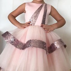 ⦁ Sequin and Satin Bodice, Layered Tulle with Sequin Details, Cotton Lining⦁ Lined for added comfort⦁ Can be custom made up to size 12 years. Frocks For Girls, Kids Frocks, Dresses Kids Girl, Kids Outfits Girls, Girl Outfits, Baby Girl Dress Patterns, Baby Dress, Dinner Gowns, Girls Party