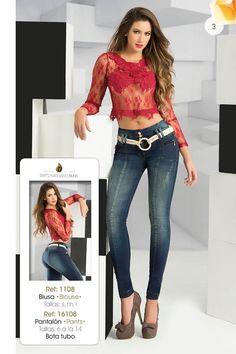 Conoce la nueva colección de nuestra #MarcaDelDía: Divina Collection llega inspirada en las #sensaciones que nos produce la moda y el buen vestir. Ventas por unidad y la por mayor. Local: 1506. tel: 3414507. Cel: 315040883 #DivinaCollection #Jean #VentaPorCatalogo #ColombianoCompraColombiano Pottery Designs, Push Up, Denim Jeans, Active Wear, Capri Pants, High Heels, Womens Fashion, Sexy, How To Wear