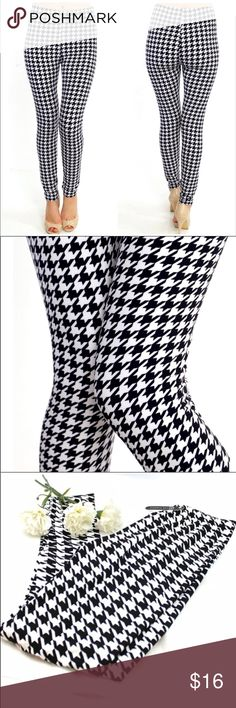 Super Soft Houndstooth Leggings New with all tags included   Boutique Item, totally on trend!    One size fits all (up to size 12)  Offers are welcome  No trade Pants Leggings