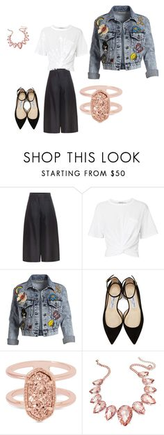 """""""My Style"""" by dyandevault ❤ liked on Polyvore featuring Valentino, T By Alexander Wang, Alice + Olivia, Jimmy Choo, Kendra Scott and Thalia Sodi"""