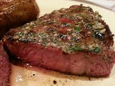 Best-Ever Reverse Seared Rib Eye Steaks with garlic and herb compound butter - REC TEC Grills