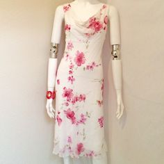 """City Triangles Floral Pink Dress City Triangles Floral Pink Sleeveless Dress. Size 7. 100% Polyester, Lining: 100% Polyester. Hand Wash Cold Only. Measurements: Armpit to Armpit 17.5"""", Waist 14"""", Length 44.5"""". City Triangles Dresses Midi"""