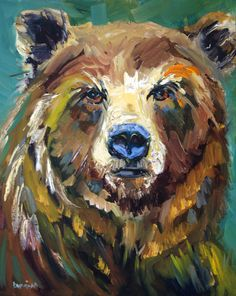 Bear Exposed by Diane whitehead Oil ~ 20 x 16