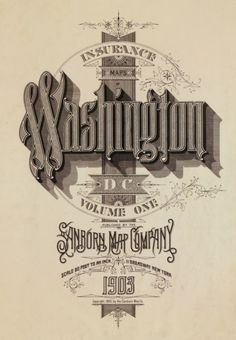 Old style typography. Wonderful!