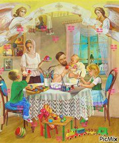 "Photo from album ""ПРАЗДНИК- ПАСХА"" on Yandex. Krishna Hindu, Krishna Leela, Durga Ji, Litho Print, Russian Painting, Alphabet Cards, Angels In Heaven, Heavenly Angels, Indian Gods"