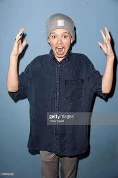 US teen star and singer Jacob Sartorius poses for pictures before his concert on October 19, 2017 in Berlin, Germany.