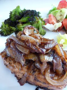 Caramelized Italian Pork Chops with Sweet Onion Jam | Holly Would If She Could